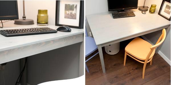 Zdjecie biurka sosnowego po renowacji