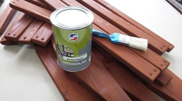 Zdjecie elementów pomalowanych hydrolakiem